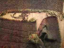 Saddle blanket tweed washing felting shrinking crabbing tests