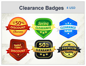 clearance discount badges