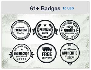61+ Vintage Badges Bundle
