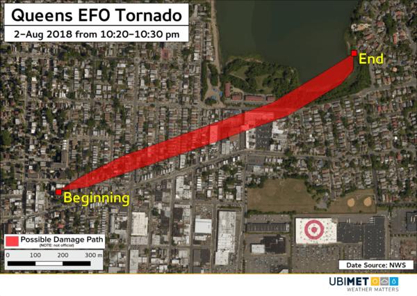 Tornadoschneise in Queens
