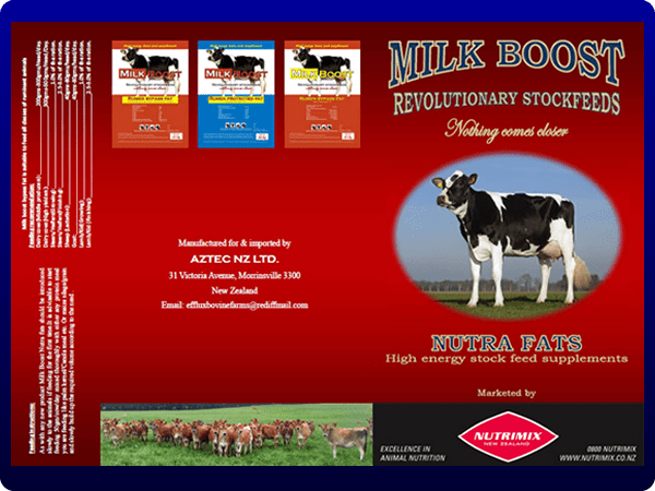 Milk boost A3 sales flyer with...