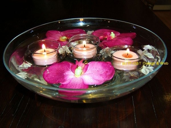 Floating Soy wax candles set;