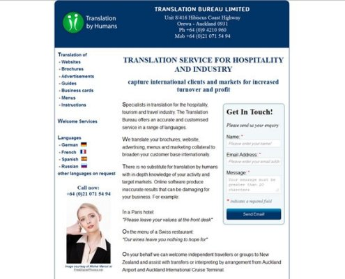 Final website design for Translation Bureau Ltd.