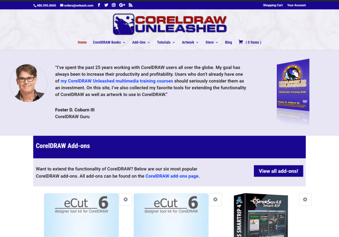 CorelDRAW Unleashed Web Site