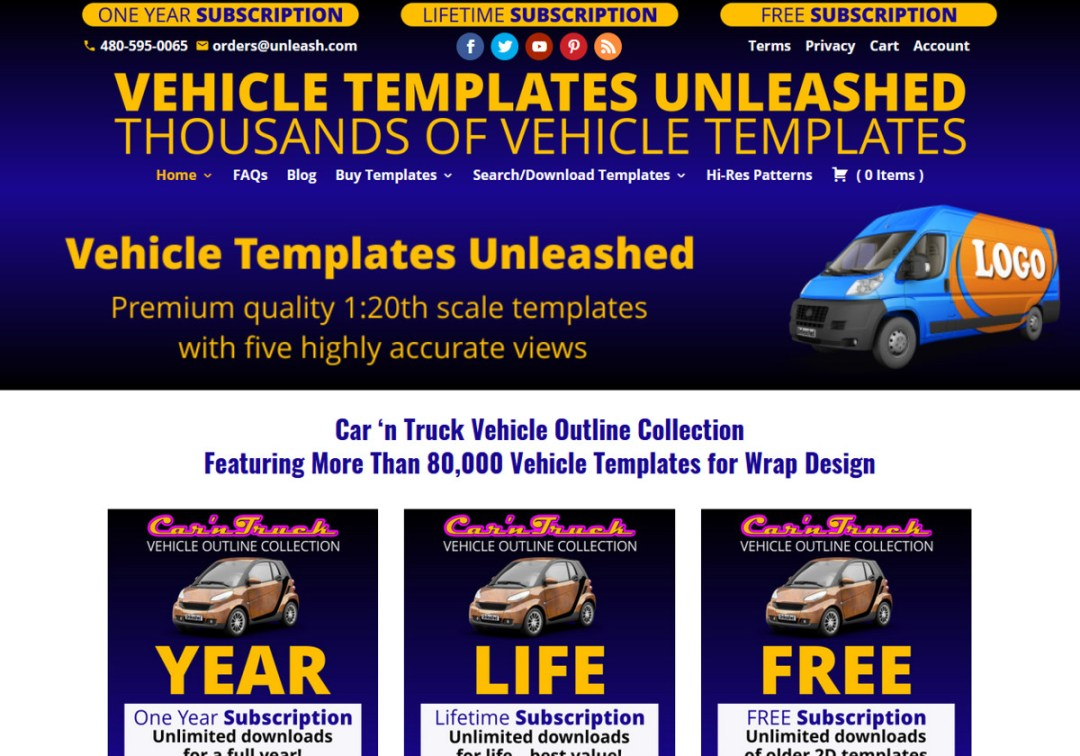 Vehicle Templates Unleashed Web Site