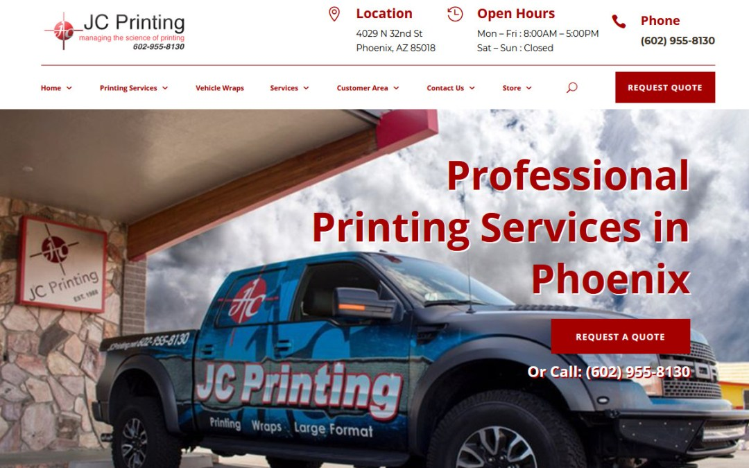 JC Printing Web Site