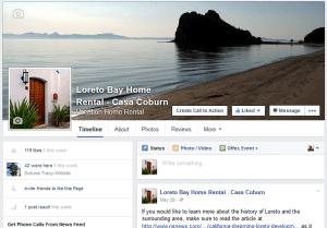 Loreto Bay Home Rental Facebook Page