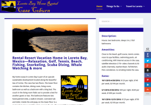 Loreto Bay Home Rental Web Site