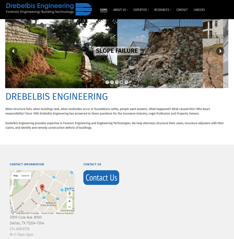 Drebelbis Engineering Home Page After