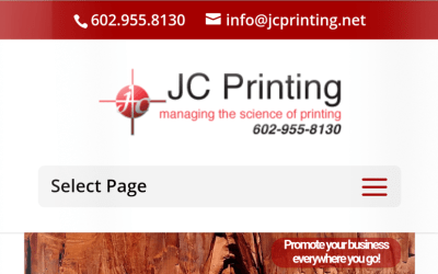 Mobile Makeover for JC Printing Web Site