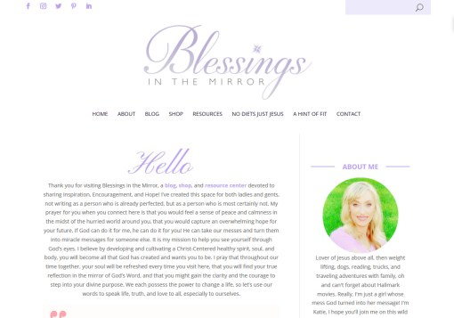 Blessings in the Mirror Web Site