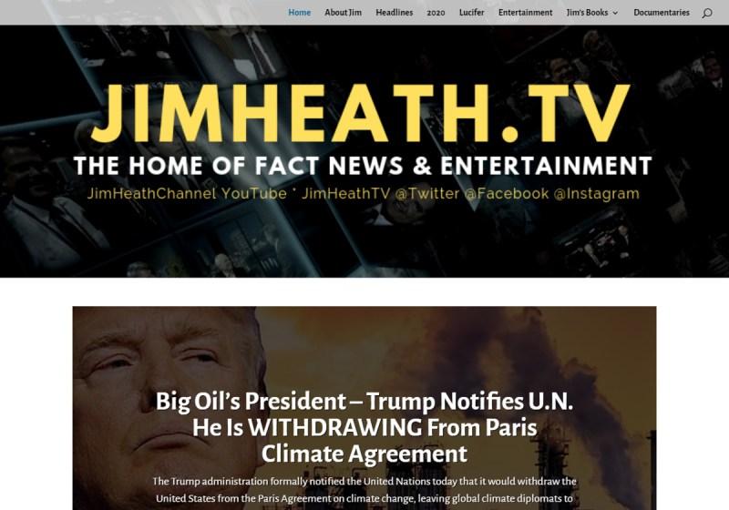 Jim Heath TV Web Site