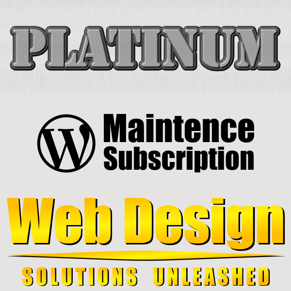 WordPress Maintenance Platinum Subscription