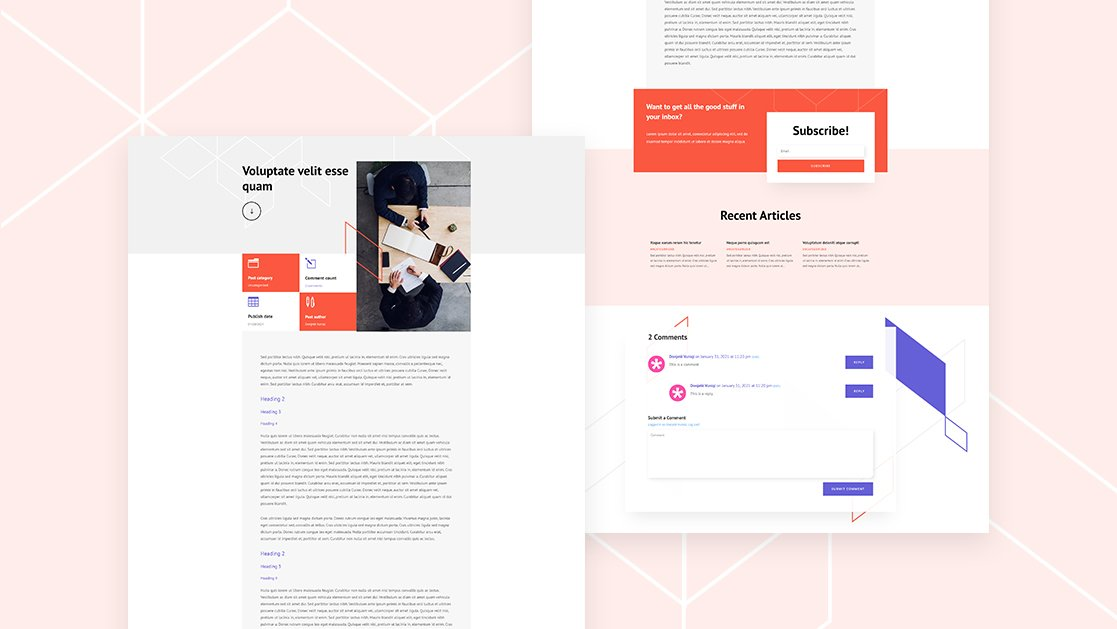 Download a FREE Blog Post Template for Divi's Brokerage Firm Layout Pack