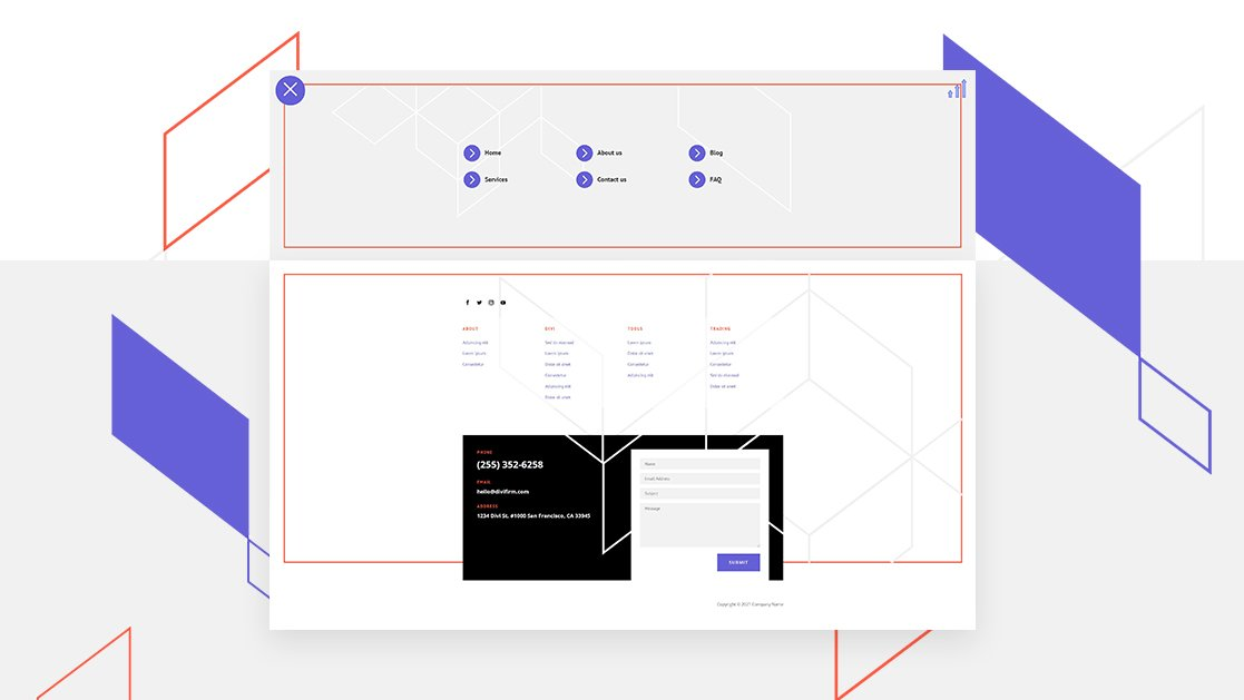 Download a FREE Header & Footer for Divi's Brokerage Firm Layout Pack