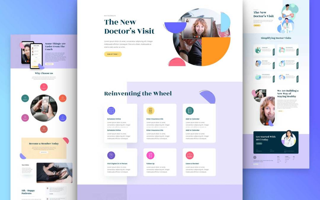 Get a FREE Telehealth Layout Pack for Divi