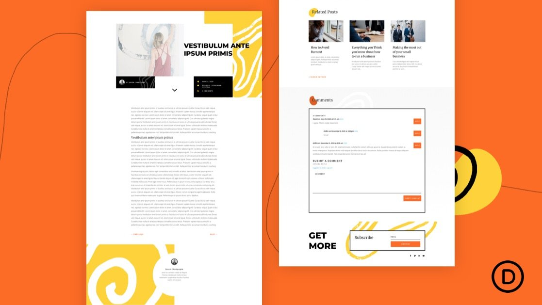 Get a FREE Blog Post Template for Divi's Painter Layout Pack
