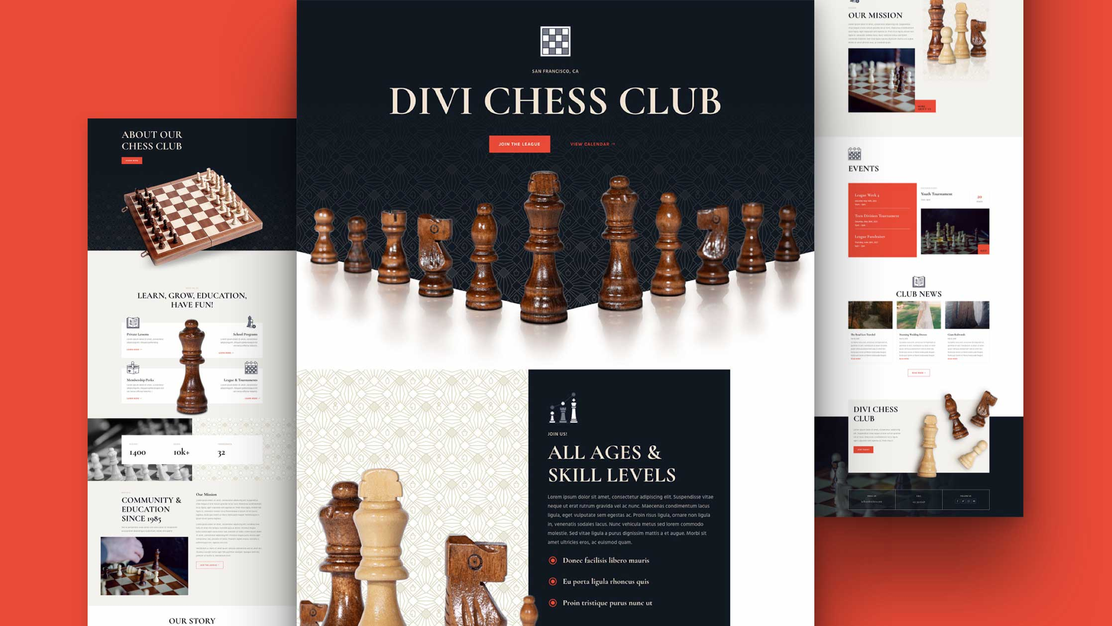 Get a FREE Chess Club Layout Pack for Divi