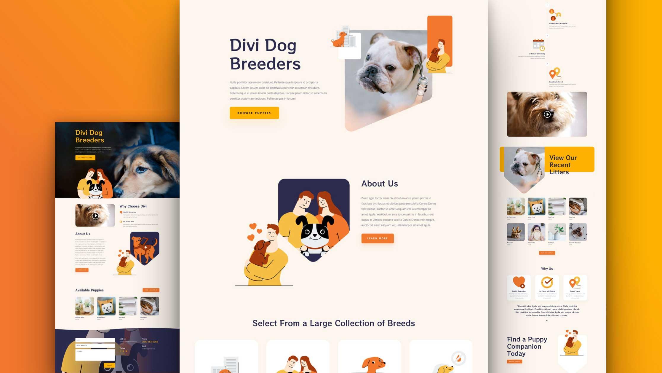 Get a FREE Dog Breeder Layout Pack for Divi