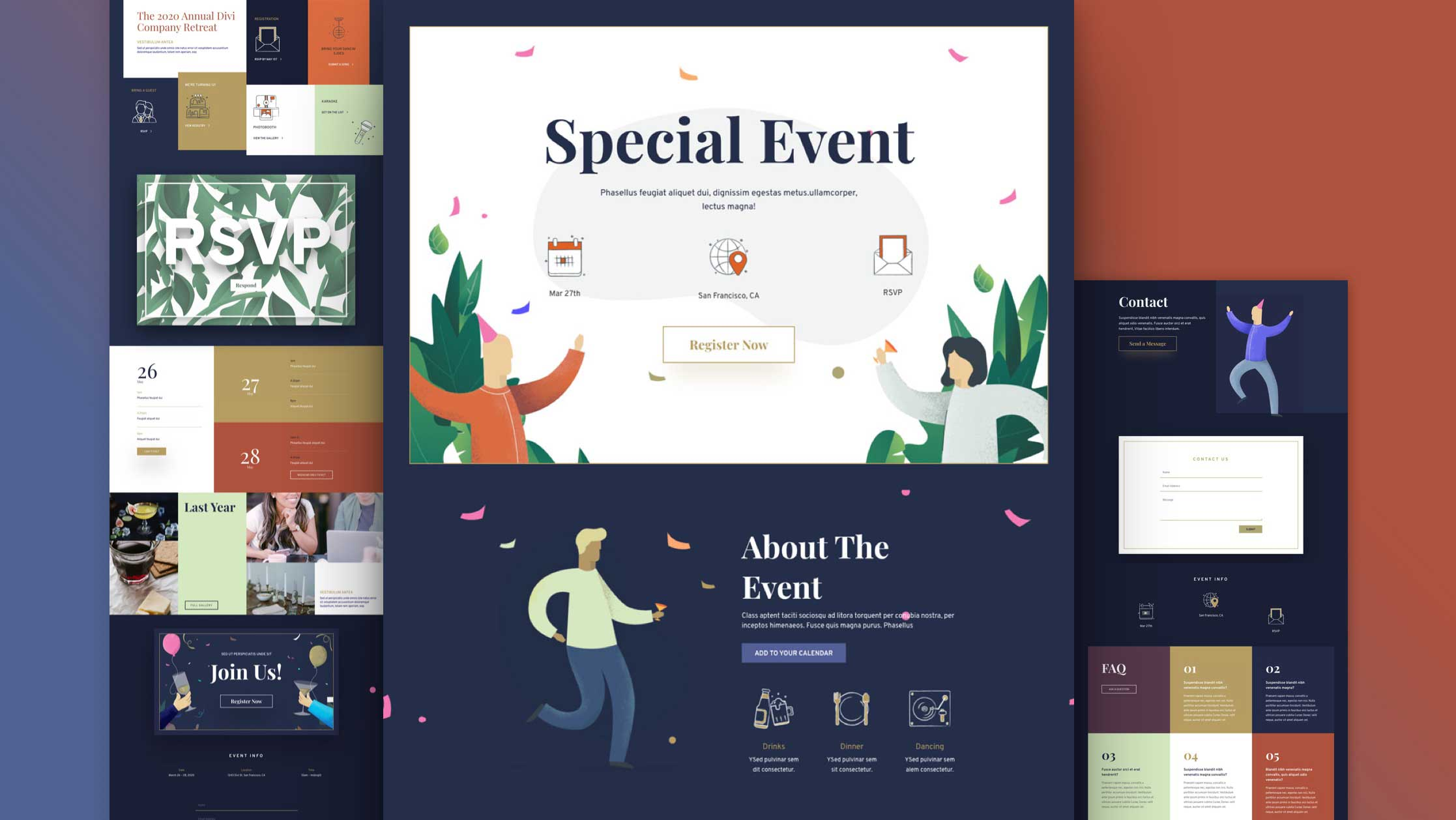 Get a FREE Event Layout Pack for Divi