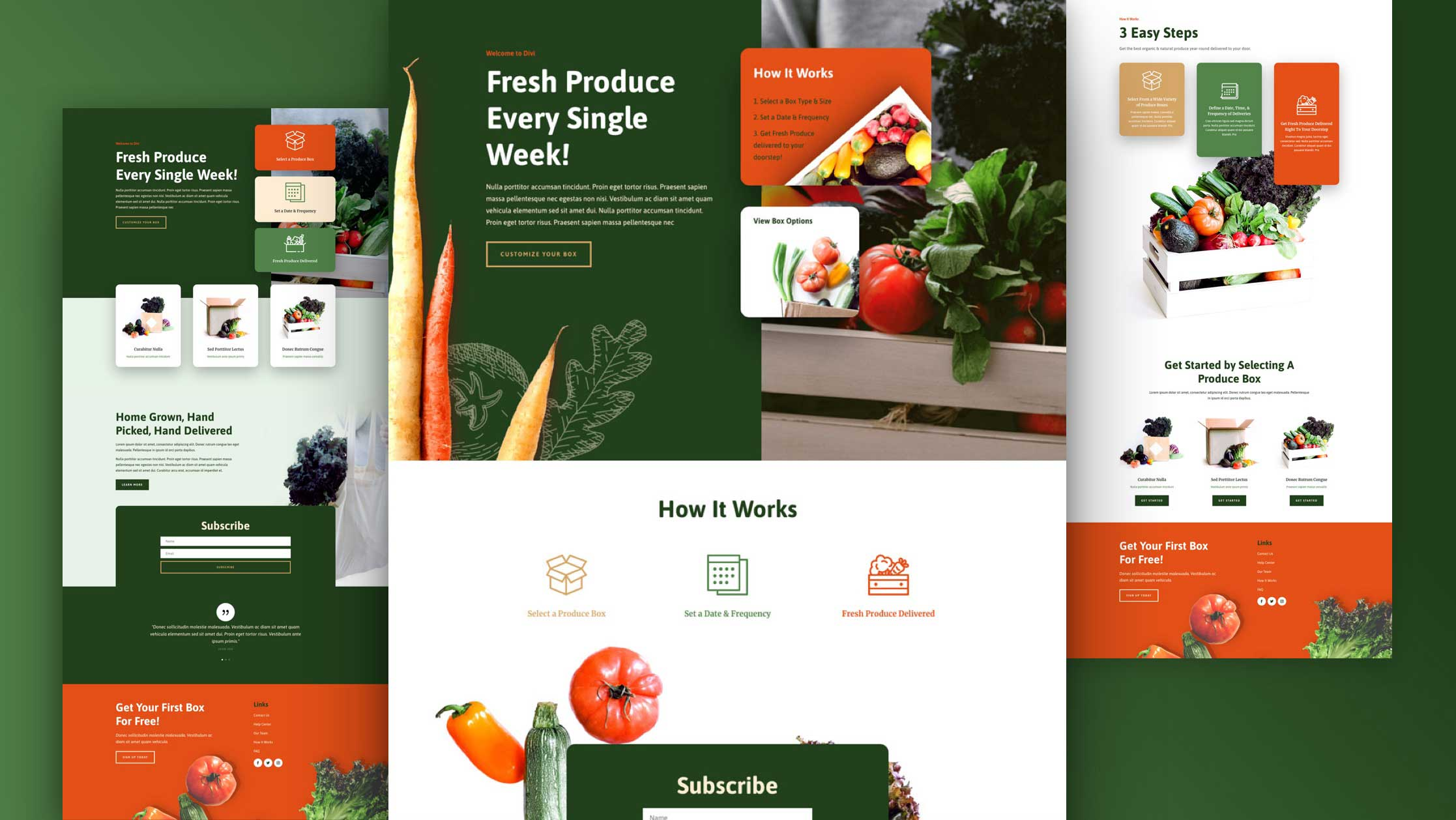 Get a FREE Produce Box Layout Pack for Divi