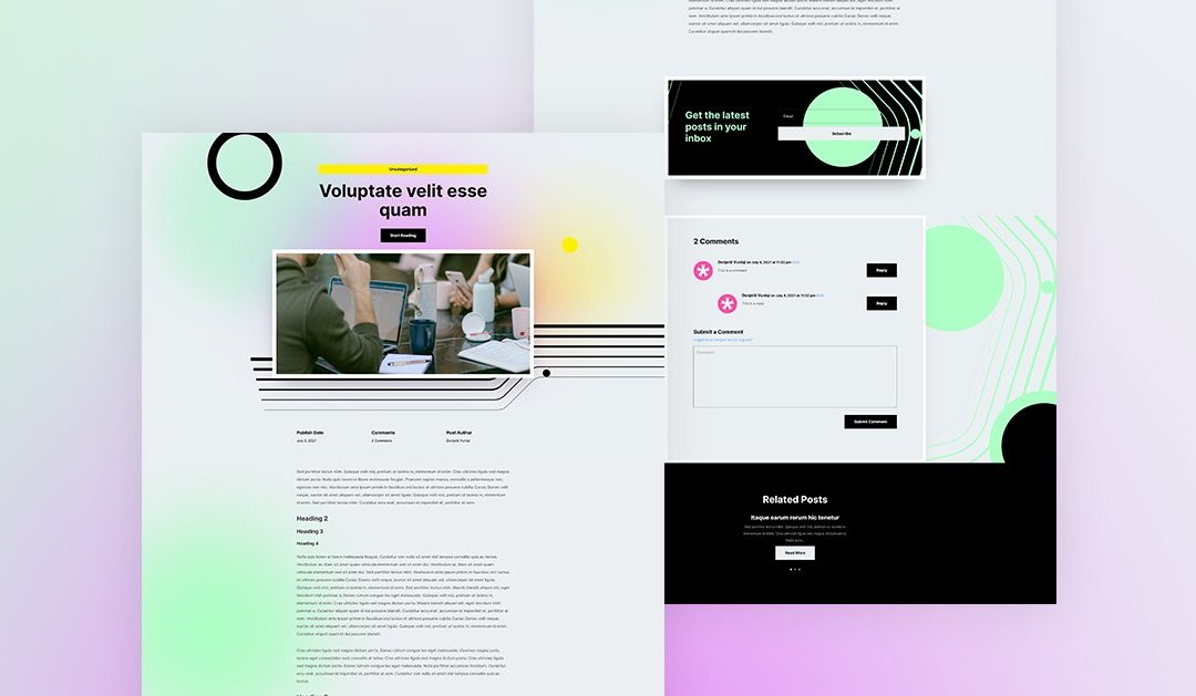 Download a FREE Blog Post Template for Divi's Social Media Consultant Layout Pack