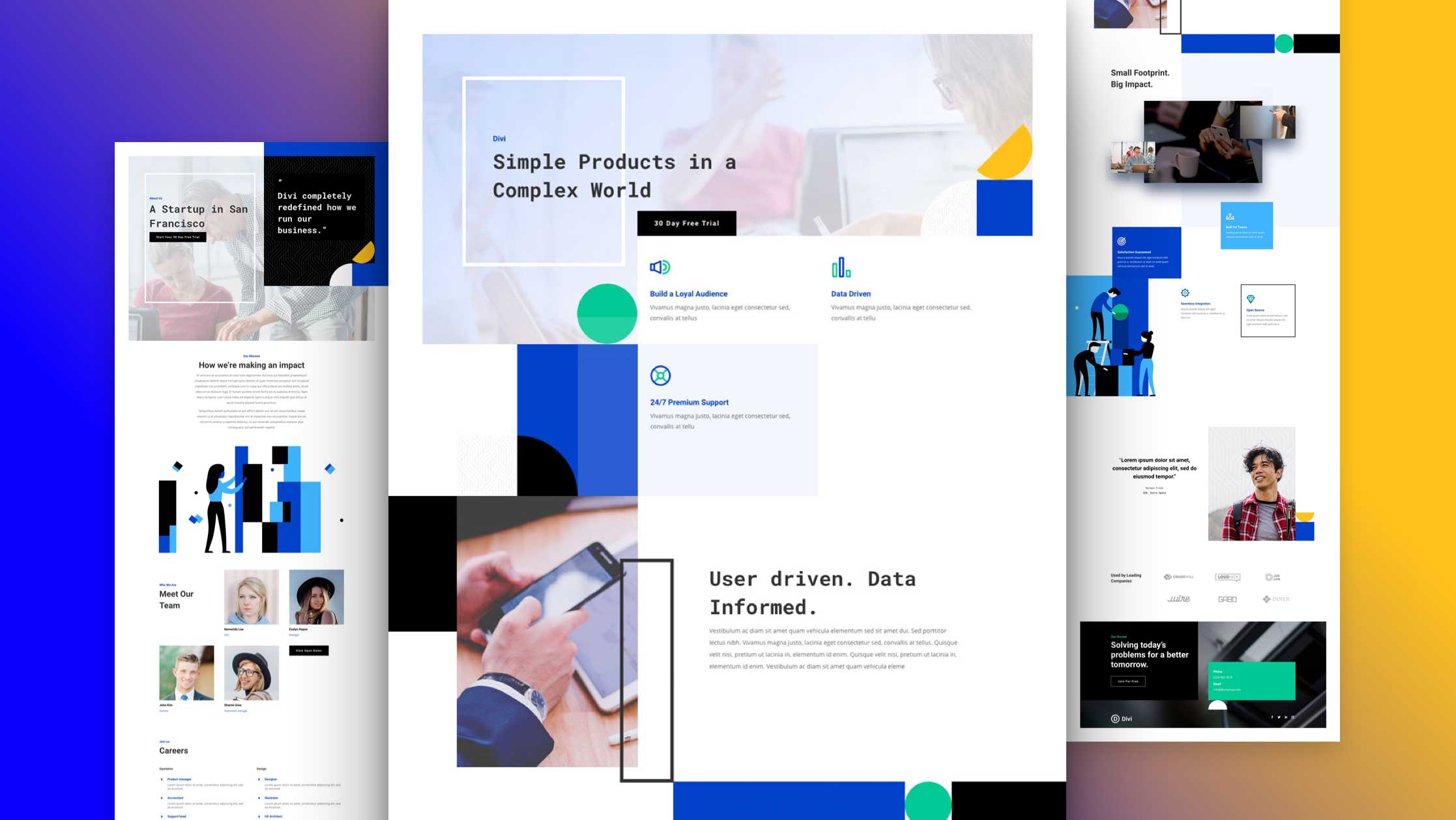 Get a FREE Startup Layout Pack for Divi