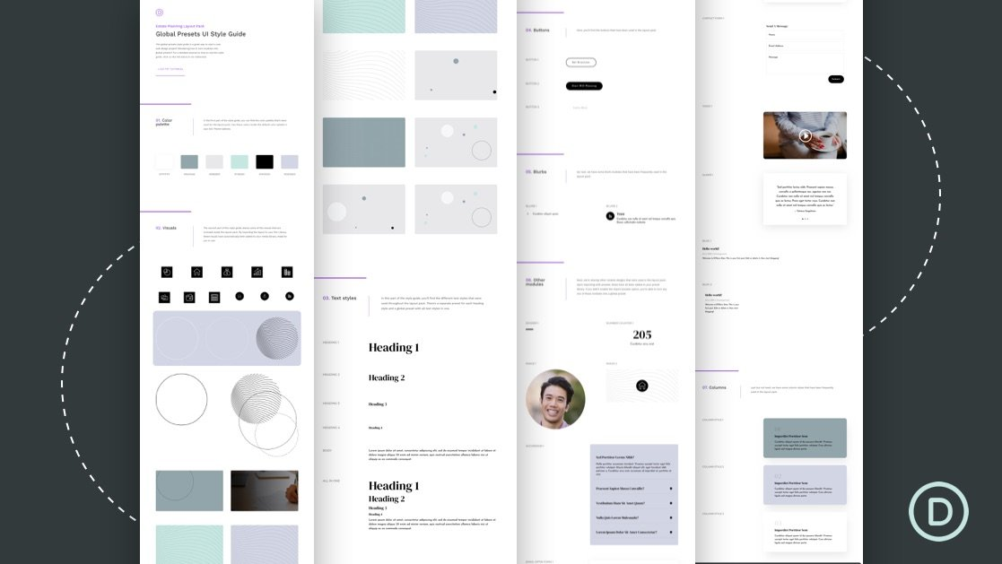 Download a FREE Global Presets Style Guide for Divi's Estate Planning Layout Pack