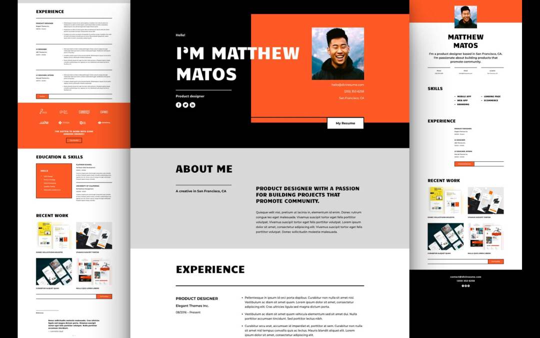 Get a FREE Creative CV Layout Pack for Divi