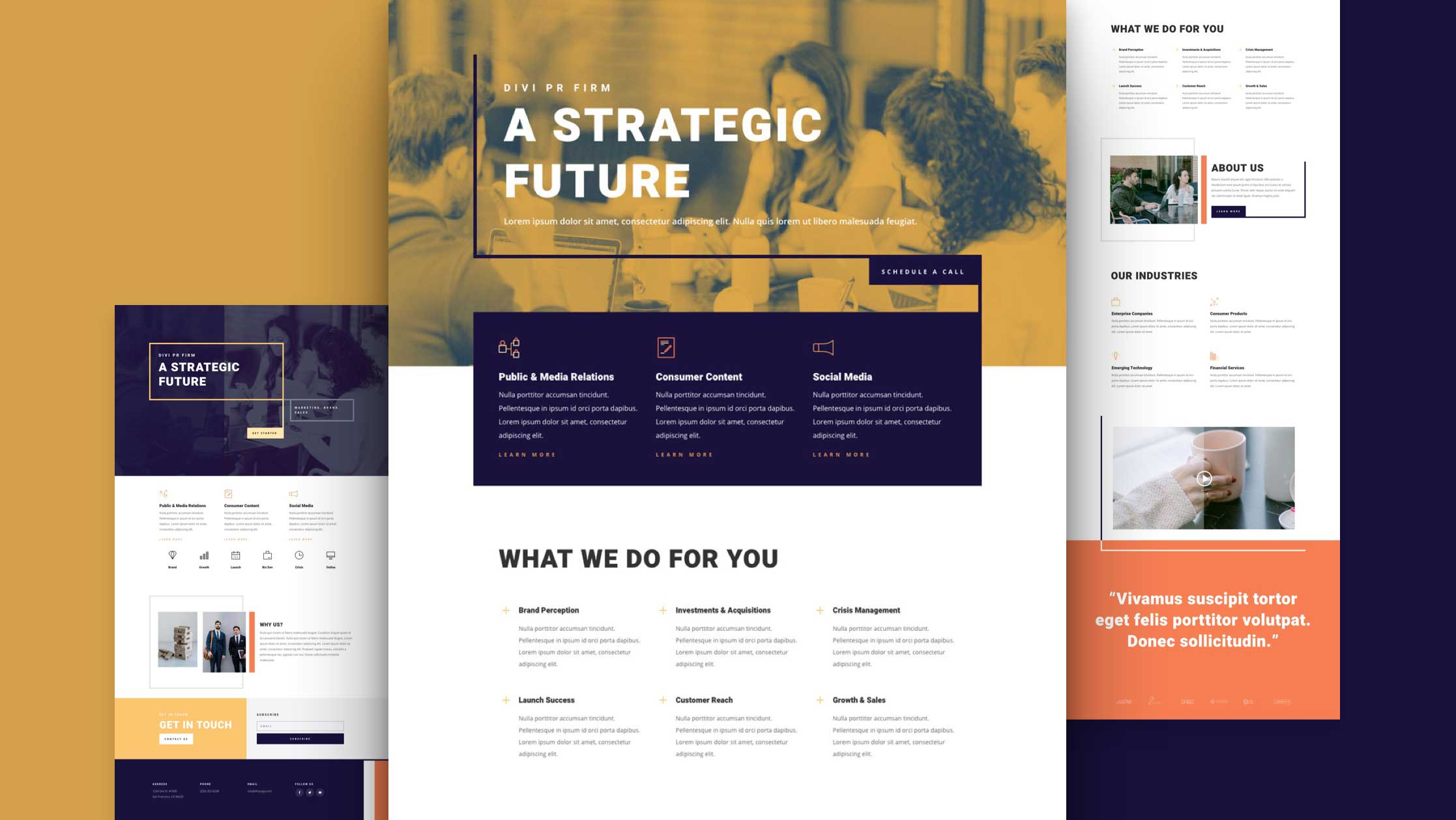 Get a FREE PR Firm Layout Pack for Divi