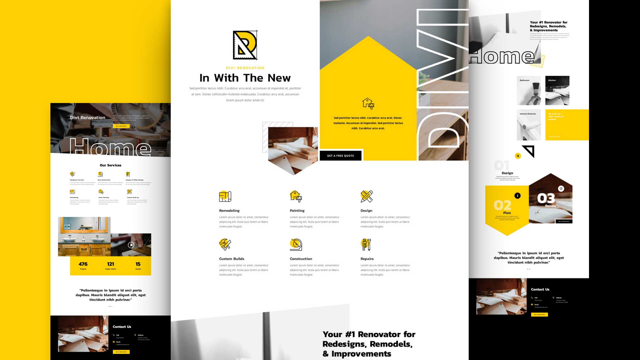 Get a FREE Renovation Layout Pack for Divi