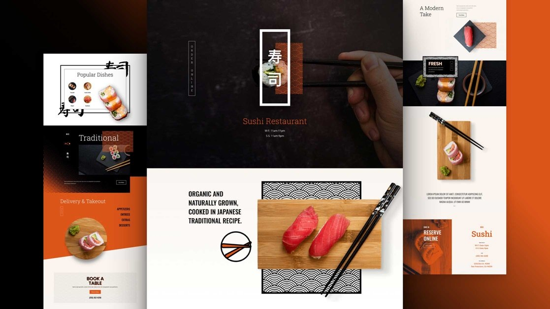 Get a FREE Sushi Restaurant Layout Pack for Divi