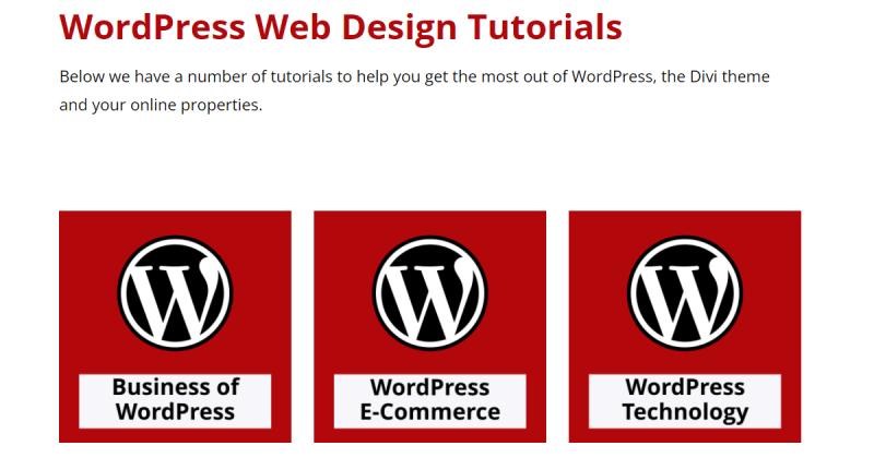 WordPress Web Design Tutorials