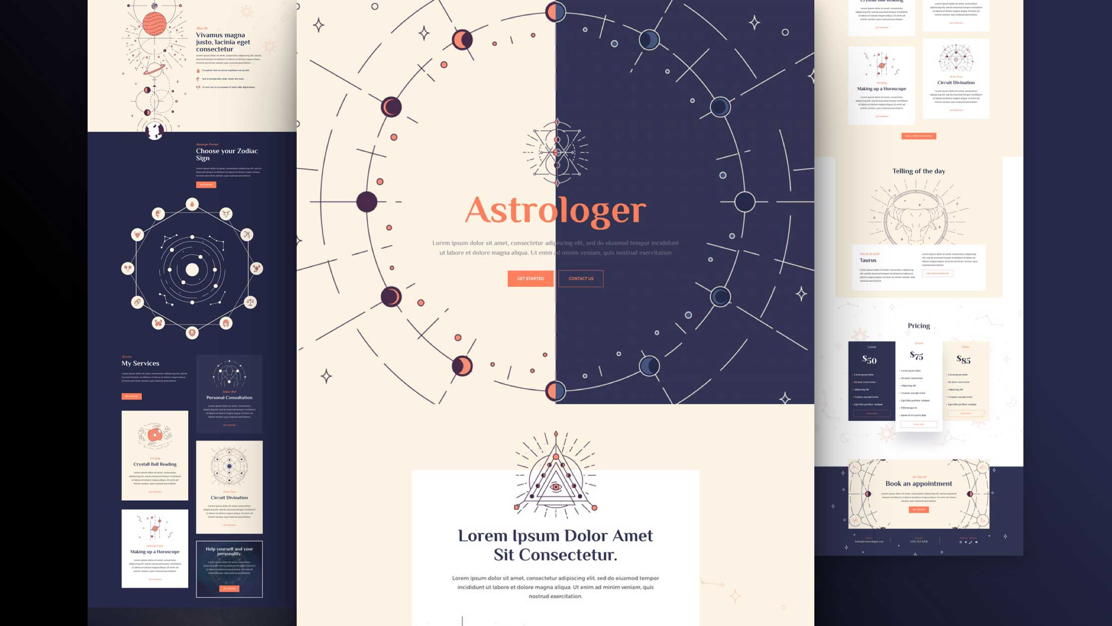 Get a FREE Astrologist Layout Pack for Divi