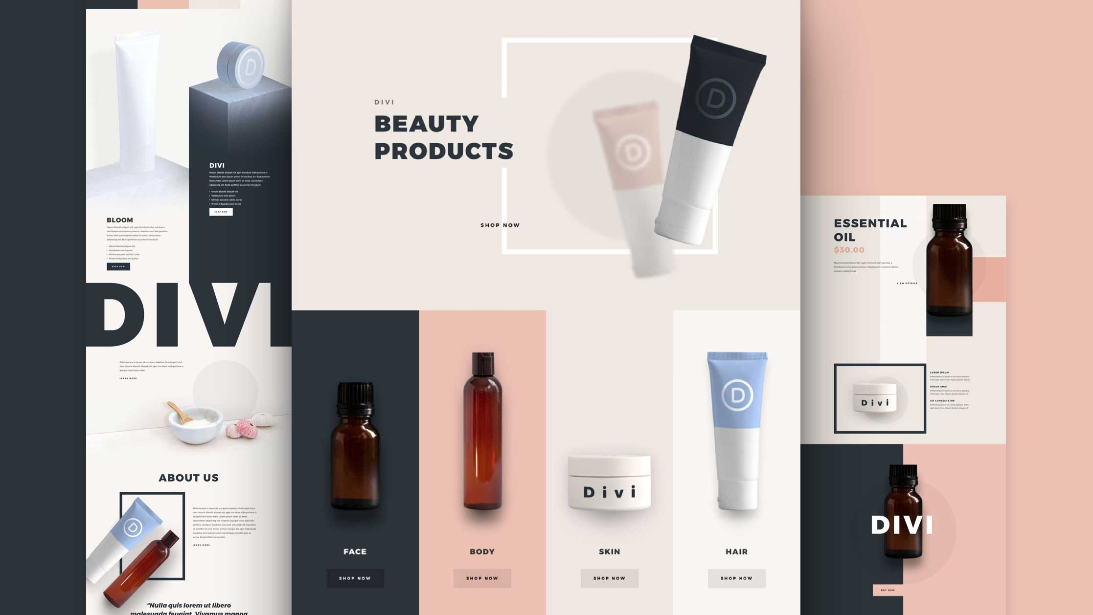 Get a FREE Beauty Product Layout Pack for Divi