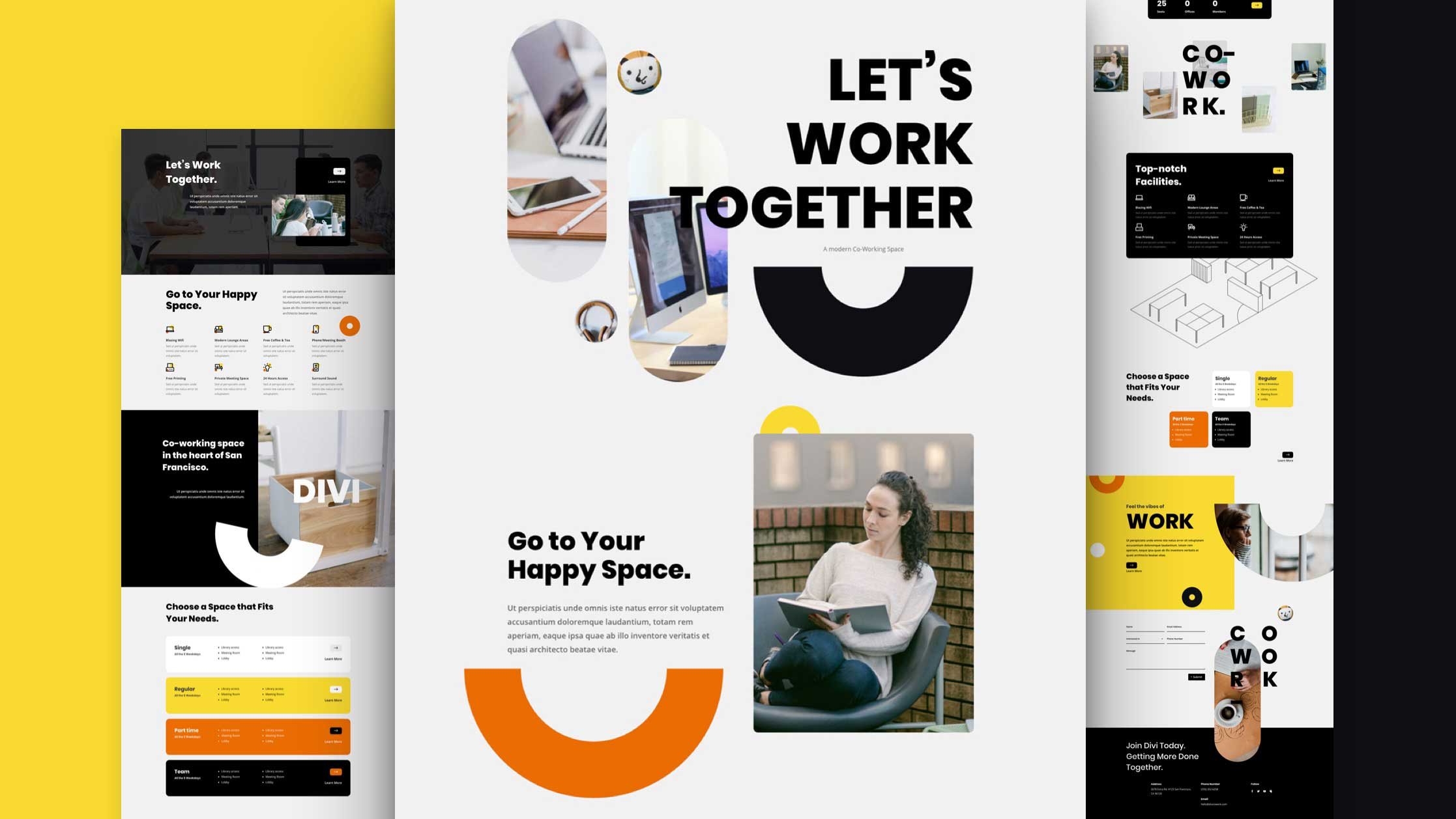 Get a FREE Coworking Space Layout Pack for Divi