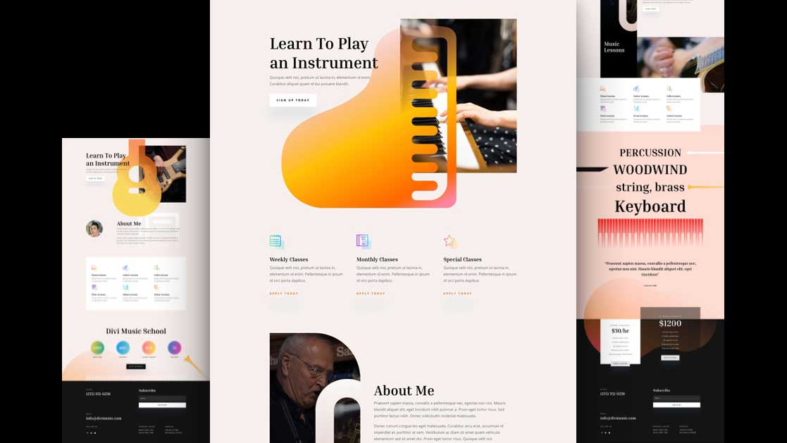 Get a FREE Music Teacher Layout Pack for Divi