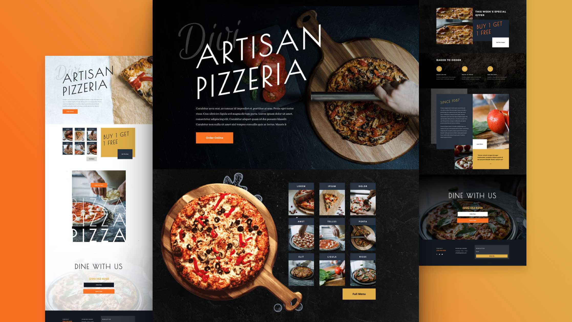 Get a FREE Pizzeria Layout Pack for Divi