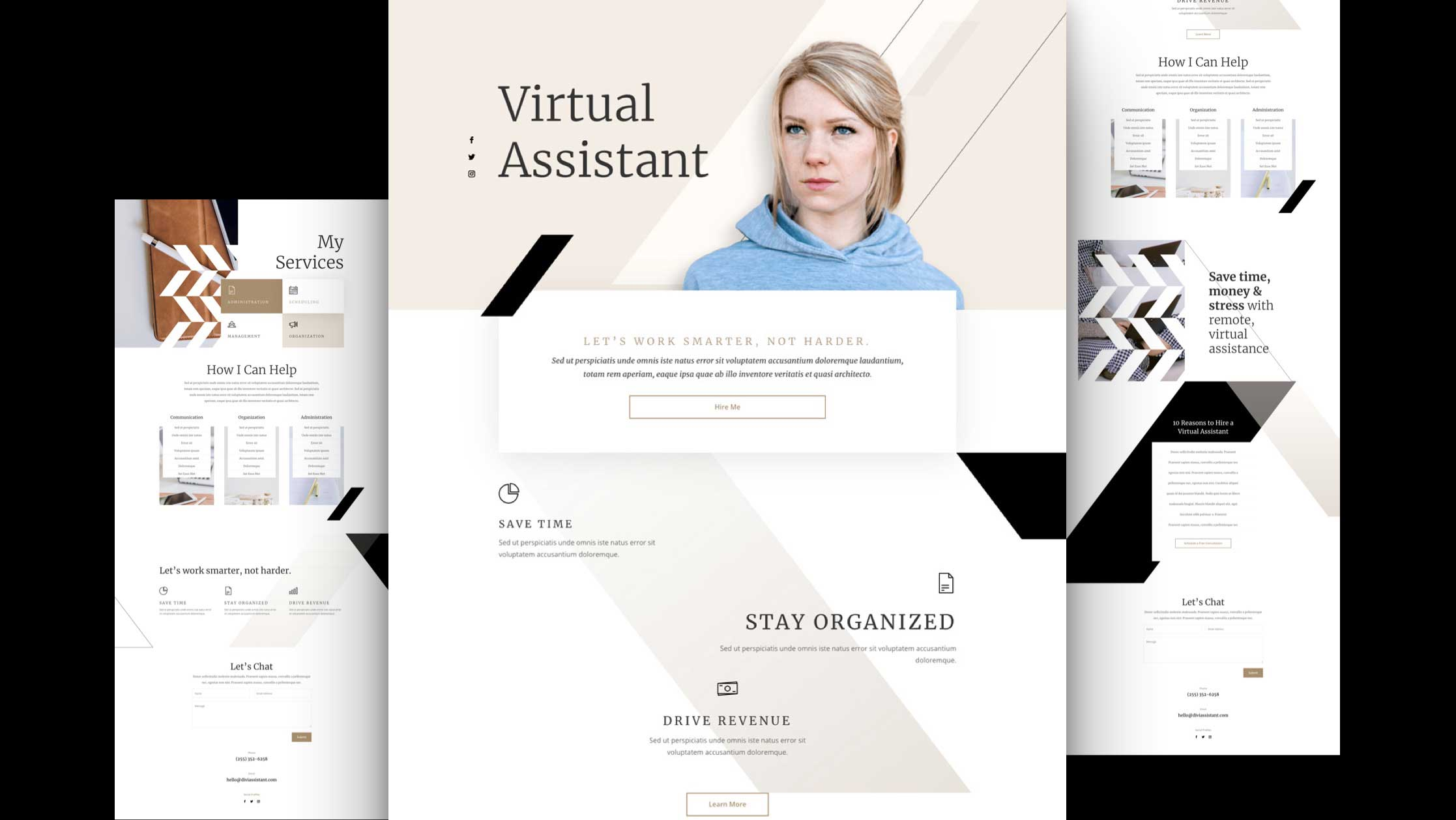 Get a FREE Virtual Assistant Layout Pack for Divi
