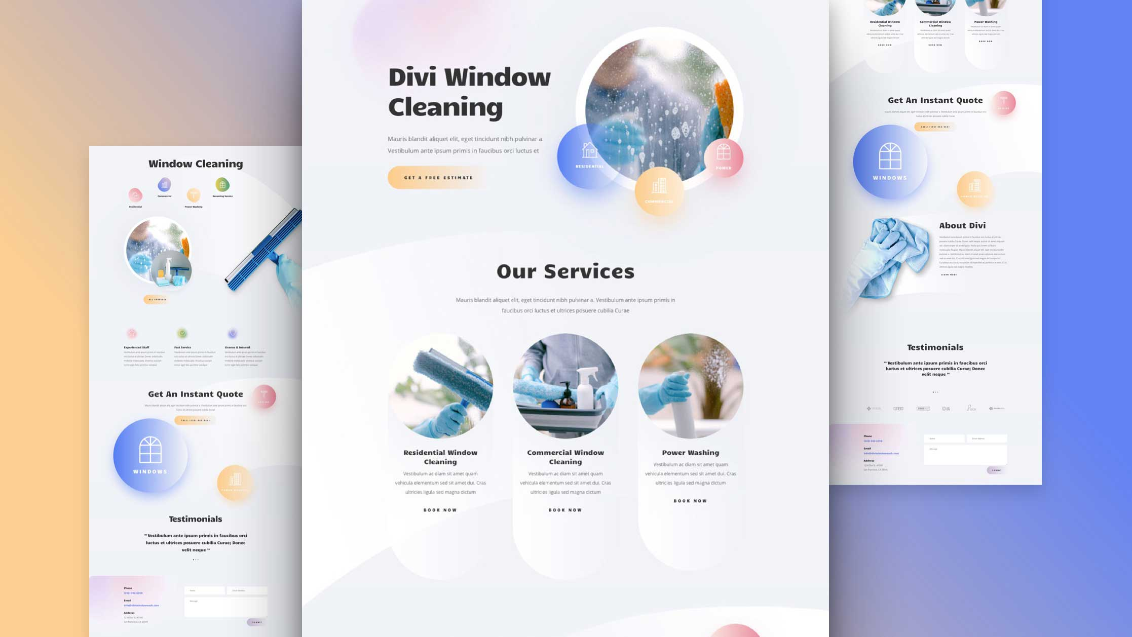 Get a FREE Window Cleaning Layout Pack for Divi