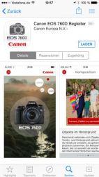 Canon EOS 760D 750D iPhone App - 1