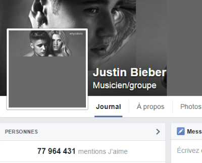 j'aime des top pages N°14 JUSTIN BIEBER