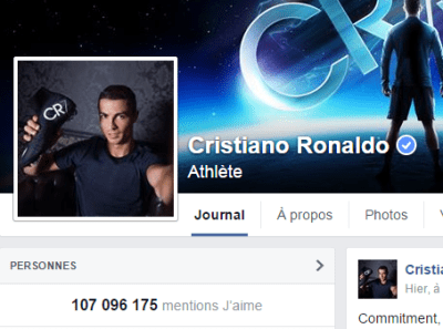 j'aime des top pages N°3 RONALDO