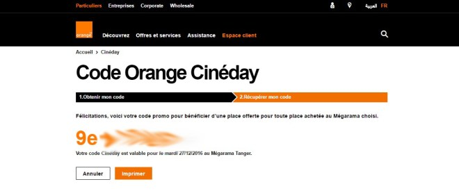 code-orange-cineday-Orange Cineday Comment ça marche : Une place offerte au cinéma