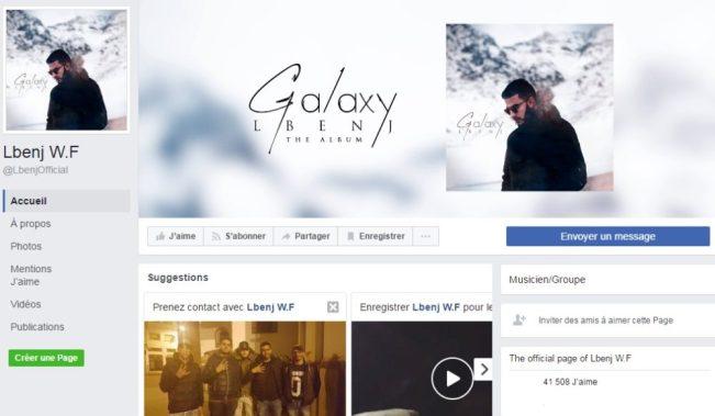 Page Facebook de Lbenj W.F - Rap Maroc 2017