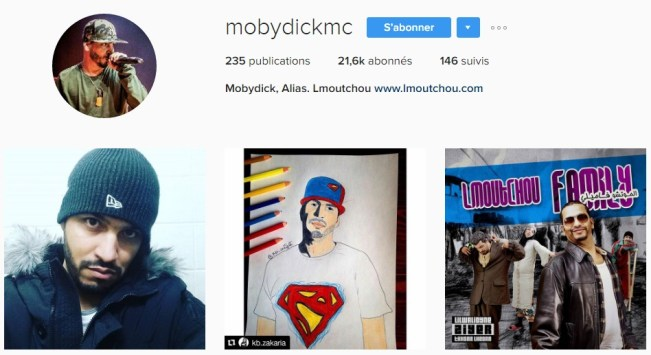 Instagram de Page Facebook Chaîne Youtube de Mobydick Alias. Lmoutchou