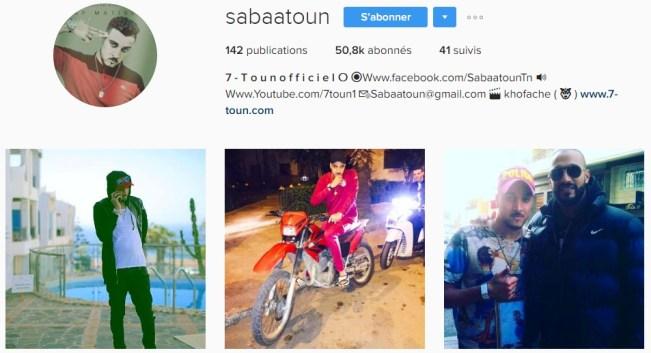 Instagram de 7-TOUN - Rap Maroc 2017