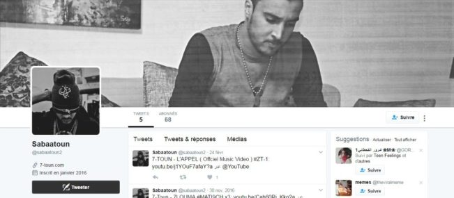Twitter de 7-TOUN - Rap Maroc 2017