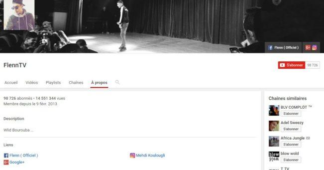 Chaîne Youtube de Flenn