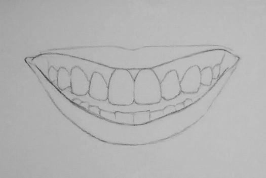 kak-narisovat-ulybku-4 Как нарисовать улыбку у основания. Как нарисовать улыбку карандашом поэтапно? Как красиво нарисовать губы в улыбке? Как нарисовать улыбку